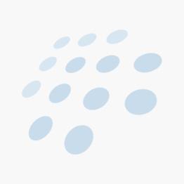 Festival Kommode hvit m/4 kurver i grått stoff