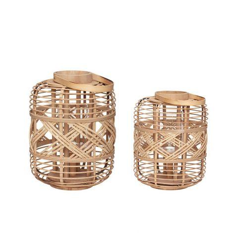 Hübsch lykta bambunatur 2 st