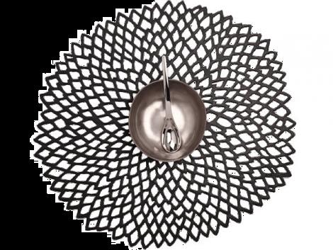 Chilewich Dahlia porslin svart 4st
