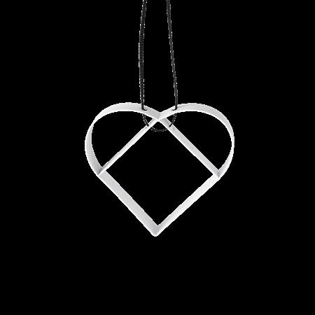 Stelton Figura ornament, hjerte, liten myk hvit 5cm