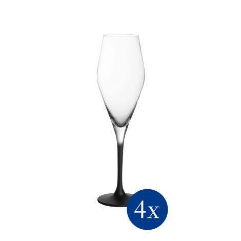 Villeroy & Boch Manufacture Rock Champagneglass 26 cl 4 stk