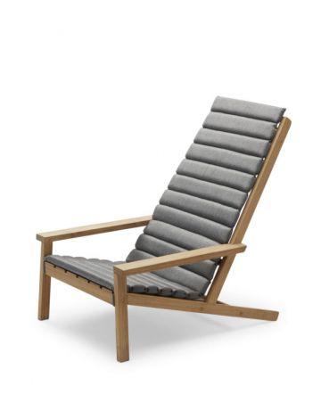 Skagerak Between Lines Deck Chair Cushion Ash OBS! med kuddar