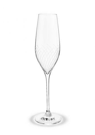 Holmegaard Cabernet Lines Champagneglass 29 cl klar 2 stk