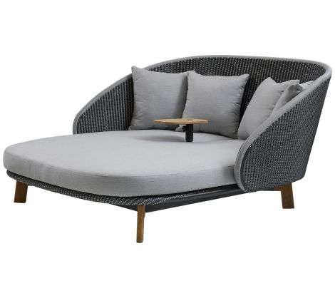 Cane-line Peacock Daybed m / bord inkl. puter