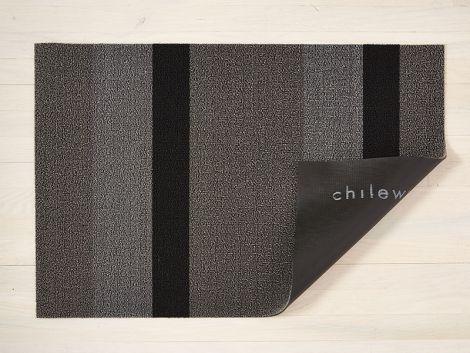 Chilewich dörrmatta Bold Stripe Silver / Black Large
