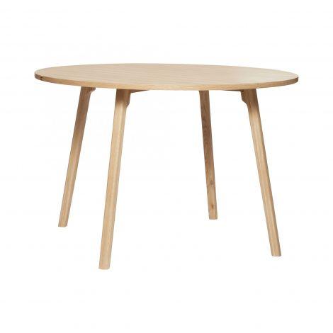 Hübsch matbord runt ek Naturfärgad FSC