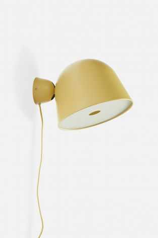 Woud Kuppi Vegglampe 2.0 Sennepsgul