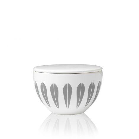Lucie Kaas Lotus Grey Sugar Bowl 10 cm