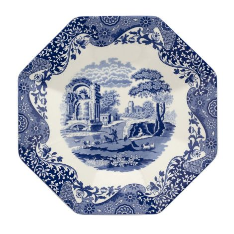 Blue Italian 250th Collection Octagonal Platter 36 cm