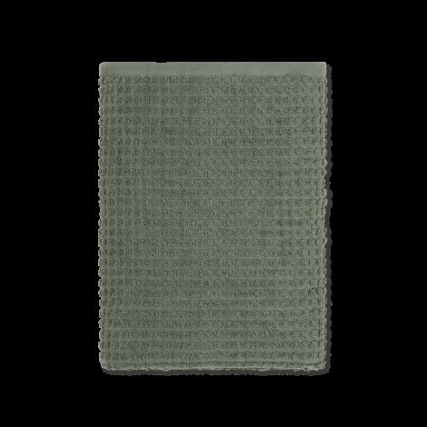 JUNA CHECK HANDDUK Mörkgrön, 50 cm x 100 cm