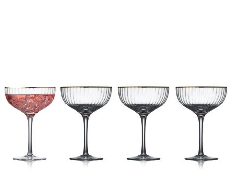 Lyngby Glass Palermo Gold Cocktailglass 31,5 cl 4-pk