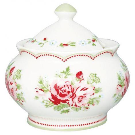 GreenGate Mary Sugar Bowl White