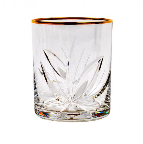 Neman Whiskyglass / Gin & Tonic glass Nordic Rose med gullkant