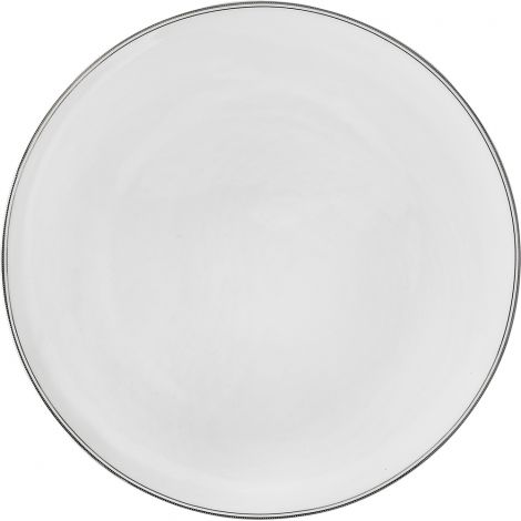 Wik & Walsøe Fnugg gourmettallerken 31cm Hvit/sølv
