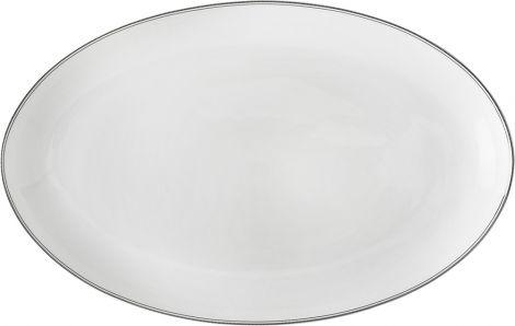 Wik & Walsøe Fnugg ovalfat 39cm Hvit/sølv