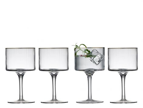 Lyngby Glass Palermo Gold Gin & Tonic Glass 32 cl 4-pk. Levering november -21