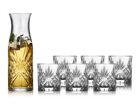 Lyngby Glass Crystal Melodia Carafe set 7 delar