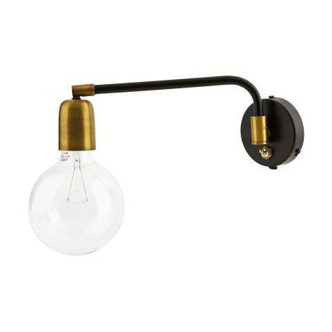 House Doctor Vägglampa Molekylär mässing / svart
