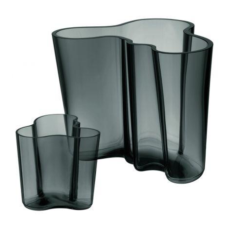 Iittala Aalto vase sett 160+95mm mørk grå