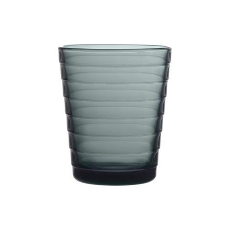 Ittala Aino Aalto glass 22cl mørk grå 2-pk
