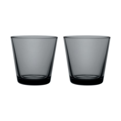 IIttala Kartio glass 21cl mørk grå 2-pk