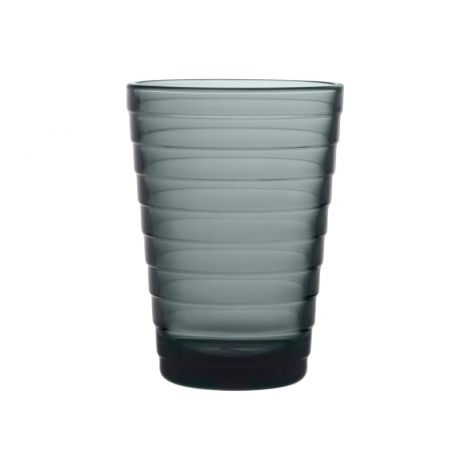 Ittala Aino Aalto glass 33cl mørk grå 2-pk
