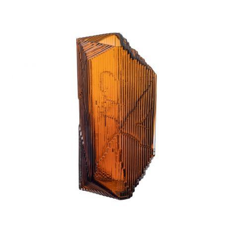 Iittala Kartta glasskulptur 150x330mm kobber