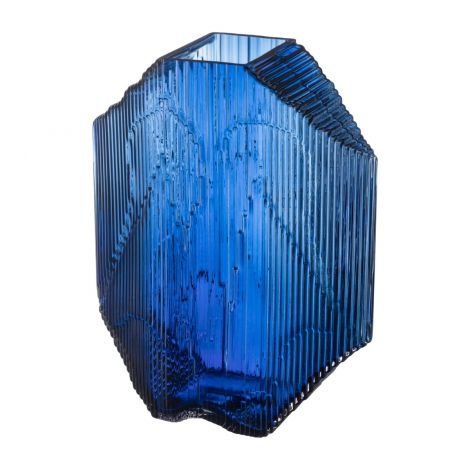 Iittala Kartta glasskulptur 240x335 blå
