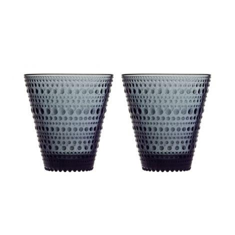 IIttala Kastehelmi glass 30cl mørk grå 2-pk