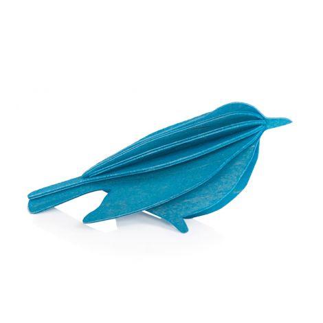 Lovi Bird blå 16 cm kommer som vykort / presentkort