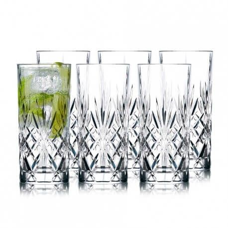 Lyngby Glass Melodia highball 36cl 6 st kristall