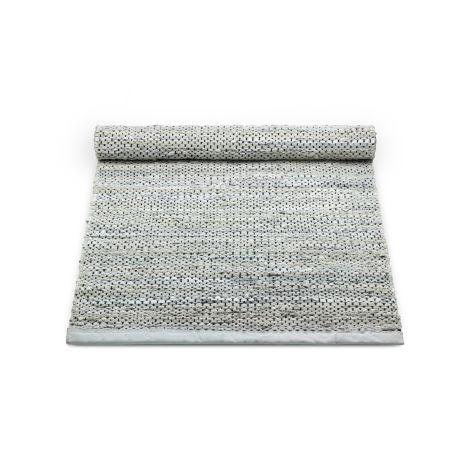 Rug Solid lädermatta ljusgrå flera storlekar
