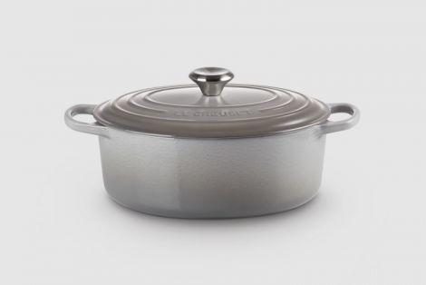 Le Creuset Oval Gryte Mist Gray 29 cm 4,7L