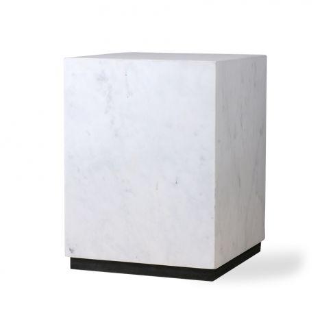 HKliving Sidebord Marmor Hvit Medium