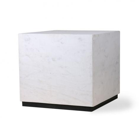 HKliving Sidebord Marmor Hvit Stor