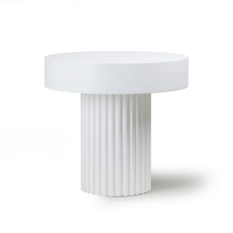 HKliving Pillar Sofabord Hvit Ø49
