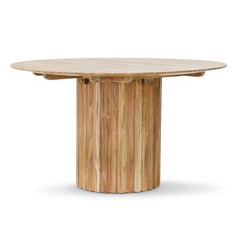 HKliving Pillar Spisebord Teak Ø140