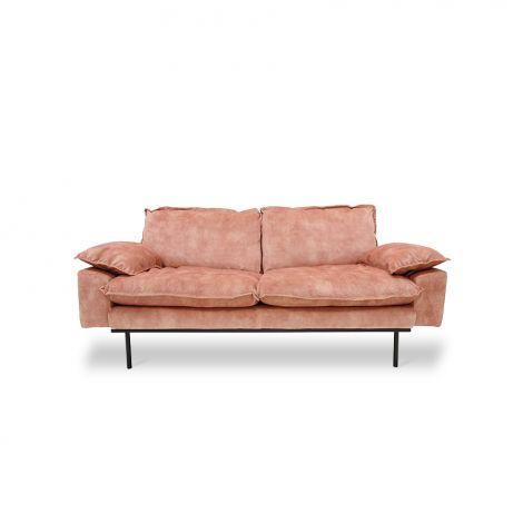 HKliving Retro Sofa 2-Seter Fløyel Rosa