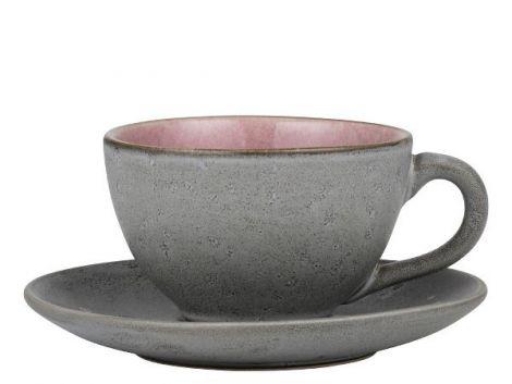 Bitz Kopp m/skål grå/rosa