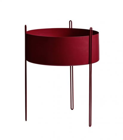 Woud Pidestall Rød Stor