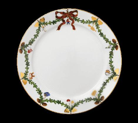 Royal Copenhagen Stjärna Räfflad Christmas Plate 27 cm. Finns i lager våren 2021