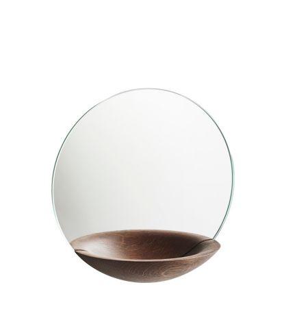 Woud Pocket Mirror, stor rökt ek 32 cm
