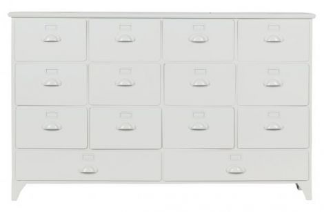 Vtwonen Archive cabinet with drawers metal white