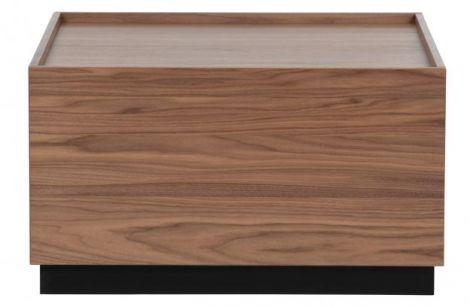 Vtwonen Block coffee table pine walnut 82x82