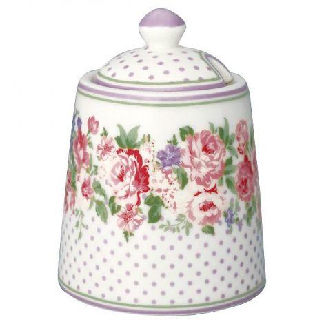 GreenGate Rose Sugar Bowl White