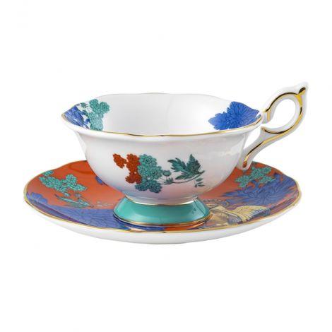 Wedgwood Wonderlust Golden Parrot Teacup & Saucer