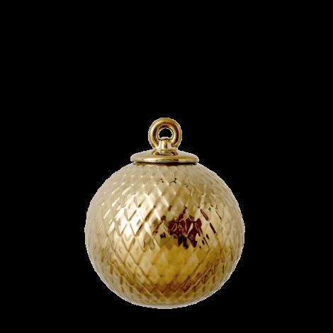 Lyngby Porslin Rhombe Christmas Ball Gold