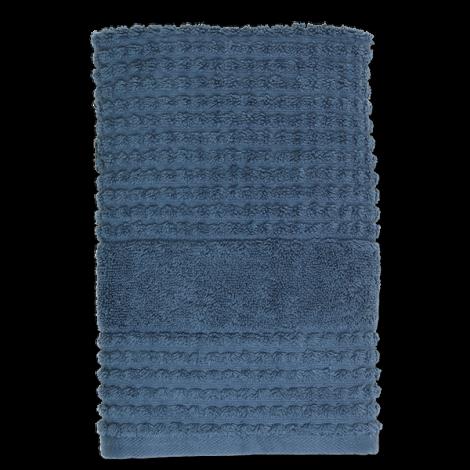 JUNA CHECK HANDDUK Mörkblå, 50 cm x 100 cm