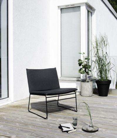 Ygg & Lyng Kyst utendørs lounge stol Sort / Sort