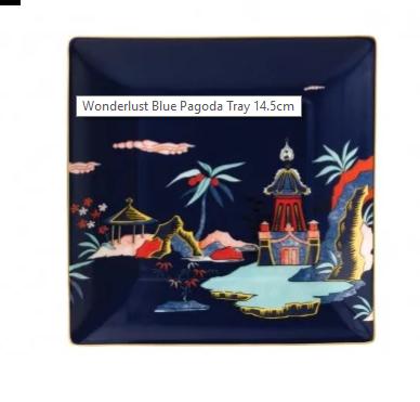 Wedgwood Wonderlust Gift Tray Blue Pagoda BXD